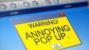 Penalizácia Pop-up reklamy