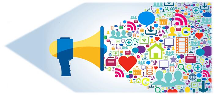 social media horn